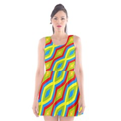 Colorful chains                    Scoop Neck Skater Dress