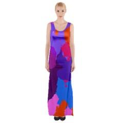 Spots                     Maxi Thigh Split Dress