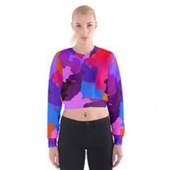 Spots                       Women s Cropped Sweatshirt