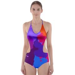 Spots                     Cut Out One Piece Swimsuit