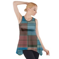 Rectangles in retro colors pattern                      Side Drop Tank Tunic