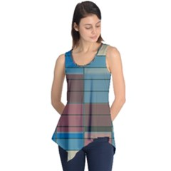 Rectangles in retro colors pattern                      Sleeveless Tunic