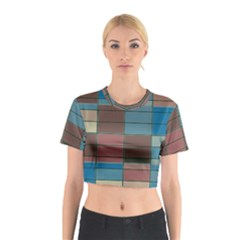 Rectangles in retro colors pattern                      Cotton Crop Top