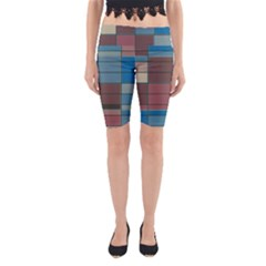 Rectangles In Retro Colors Pattern                      Yoga Cropped Leggings
