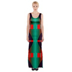 Vertical stripes and other shapes                        Maxi Thigh Split Dress