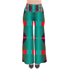Vertical Stripes And Other Shapes       Women s Chic Palazzo Pants