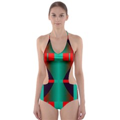 Vertical stripes and other shapes                        Cut-Out One Piece Swimsuit