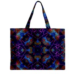 Ornate Mosaic Zipper Mini Tote Bag