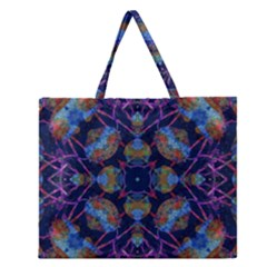 Ornate Mosaic Zipper Large Tote Bag