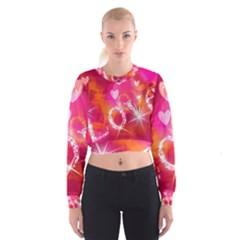 Love Women s Cropped Sweatshirt