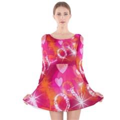 Love Long Sleeve Velvet Skater Dress