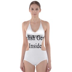 English Genius Inside Cut-Out One Piece Swimsuit