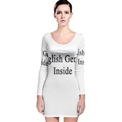 English Genius Inside Long Sleeve Velvet Bodycon Dress