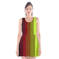 Stripes Scoop Neck Skater Dress