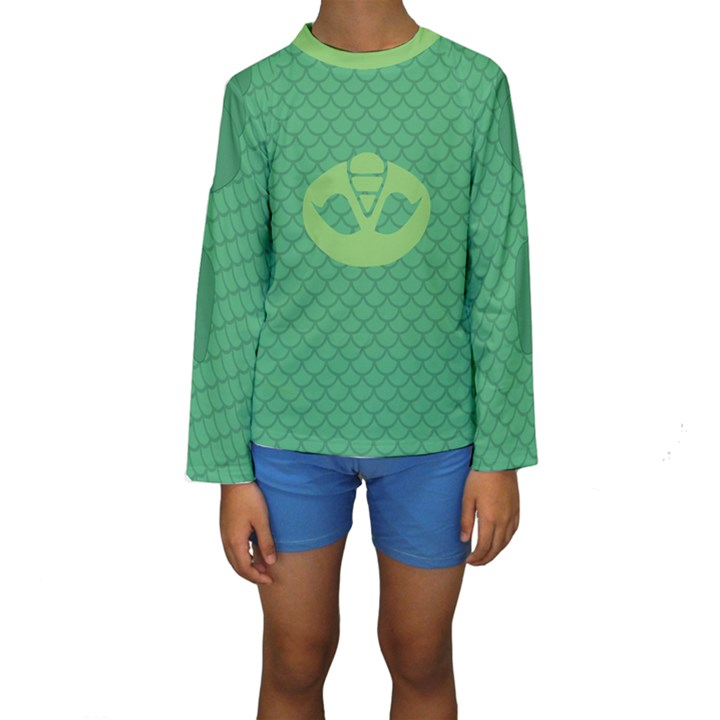 PJ Masks Gekko Kid s Long Sleeve Swimwear