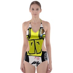 All Life Matters! Cut-Out One Piece Swimsuit