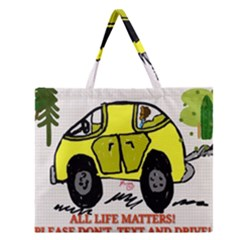 All Life Matters! Zipper Large Tote Bag