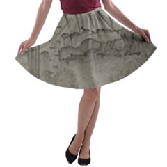 Peace In The Valley  A Line Skater Skirt