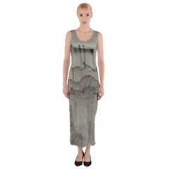 Peace In The Valley  Fitted Maxi Dress