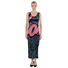 Love! Fitted Maxi Dress