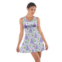 liliac flowers and leaves Pattern Racerback Dresses