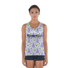 liliac flowers and leaves Pattern Tops