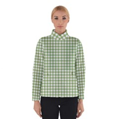 Avocado Green Gingham Classic Traditional Pattern Winterwear