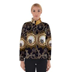 Steampunk Golden Design With Clocks And Gears Winterwear