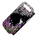 Freckles In Flowers Ii, Black White Tux Cat Samsung Galaxy S III Hardshell Case (PC+Silicone) View4