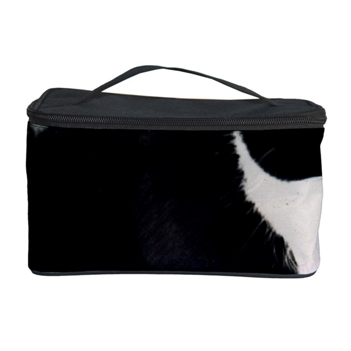 Freckles In Flowers Ii, Black White Tux Cat Cosmetic Storage Cases