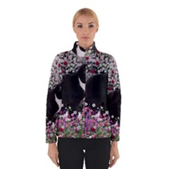 Freckles In Flowers Ii, Black White Tux Cat Winterwear