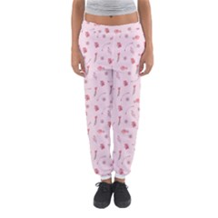 Cute Pink Birds And Flowers Pattern Women s Jogger Sweatpants