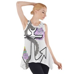 2 Combo Flowersa  Side Drop Tank Tunic