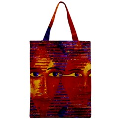Conundrum Iii, Abstract Purple & Orange Goddess Zipper Classic Tote Bag