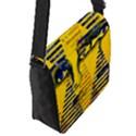 Conundrum II, Abstract Golden & Sapphire Goddess Flap Messenger Bag (S) View2