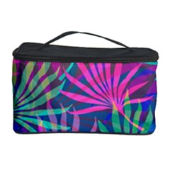 Colored Palm Leaves Background Cosmetic Storage Cases