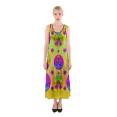 Floral Love And Why Not In Neon Sleeveless Maxi Dress