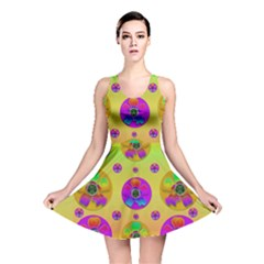 Floral Love And Why Not In Neon Reversible Skater Dress