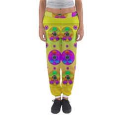 Floral Love And Why Not In Neon Women s Jogger Sweatpants