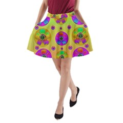 Floral Love And Why Not In Neon A-Line Pocket Skirt