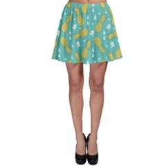 Summer Pineapples Fruit Pattern Skater Skirt