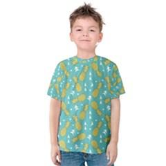 Summer Pineapples Fruit Pattern Kid s Cotton Tee