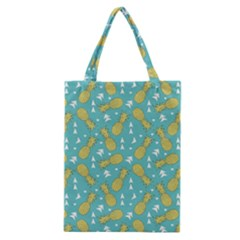 Summer Pineapples Fruit Pattern Classic Tote Bag