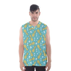 Summer Pineapples Fruit Pattern Men s Basketball Tank Top