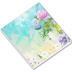Watercolor Fresh Flowery Background Small Memo Pads