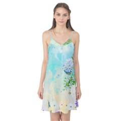 Watercolor Fresh Flowery Background Camis Nightgown