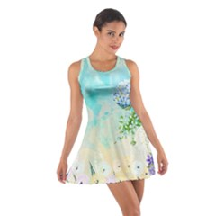 Watercolor Fresh Flowery Background Racerback Dresses