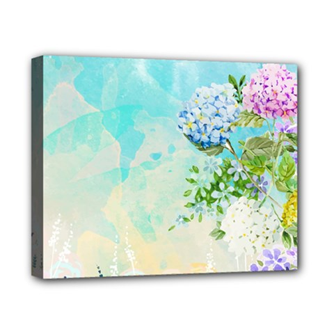 Watercolor Fresh Flowery Background Canvas 10  x 8