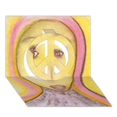 Portrait Of Archangel Michael, Spiritual Chalks Drawing Peace Sign 3d Greeting Card (7x5)