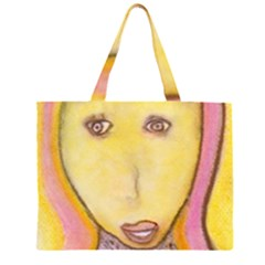 Portrait of Archangel Michael, Spiritual Chalks Drawing Large Tote Bag